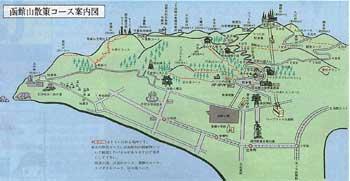 函館山散策コース案内図