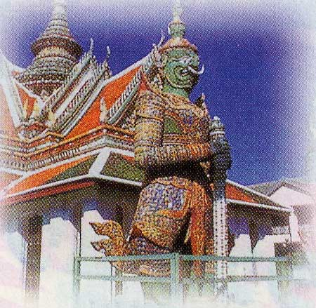 タイのエメラルド寺院