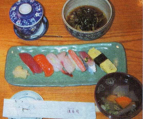 清寿司のランチセット