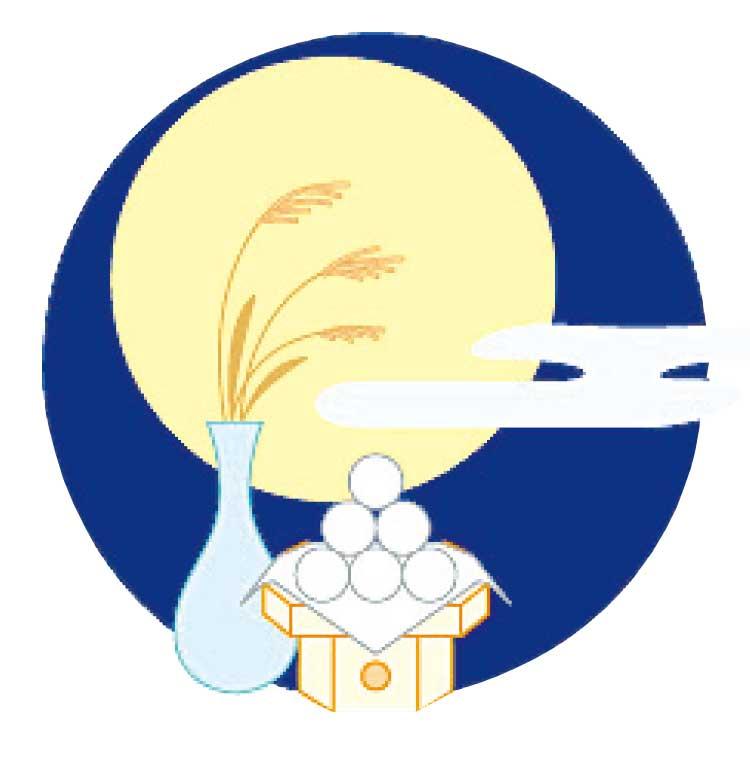 十五夜の満月とお供え物