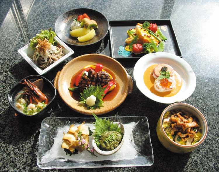 フィットネスホテル330函館のスカイランチバイキング料理