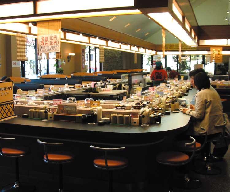 100円回転寿司ひゃくまるくんカウンター