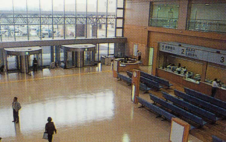 市立函館病院の外来待合室