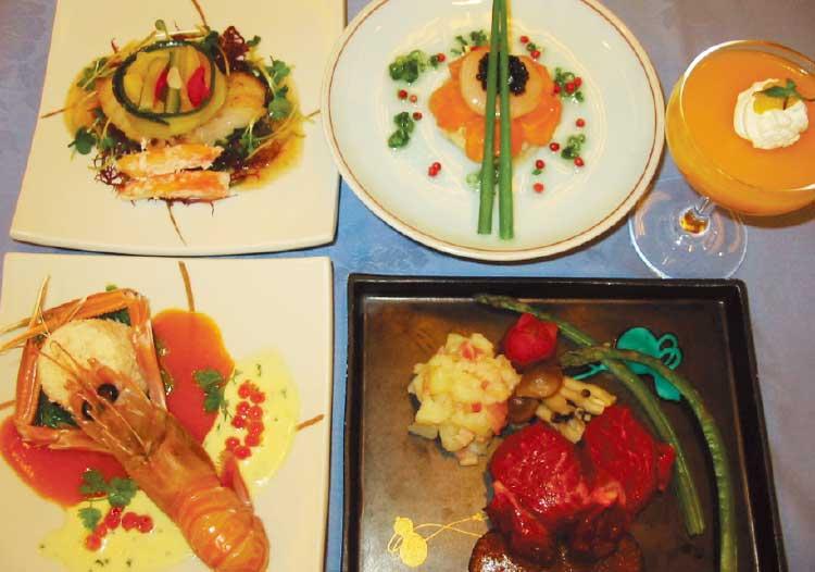 フイットネススホテル330函館のクリスマスディナー料理