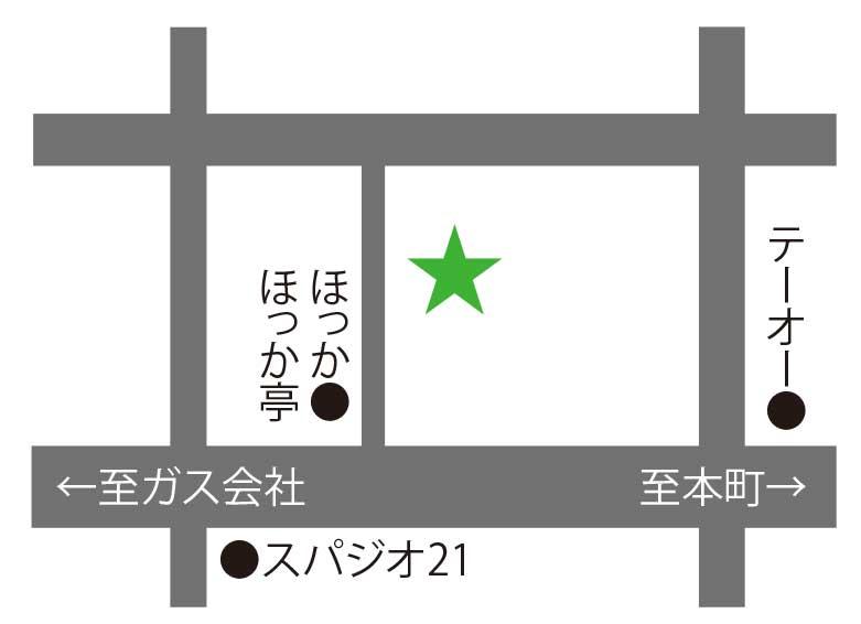 ○△□焼函館冨紗家周辺地図