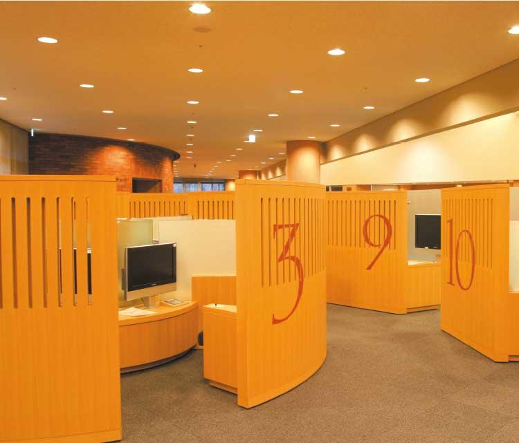 函館中央図書館視聴覚コーナー