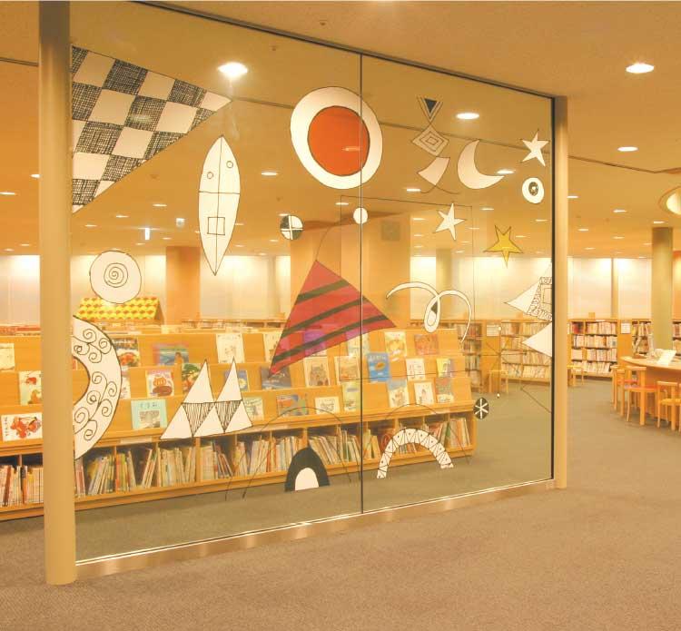 函館中央図書館児童書コーナー