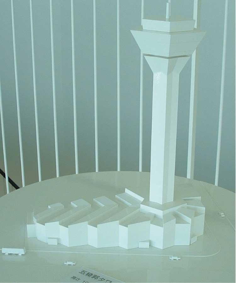 五稜郭タワーの模型