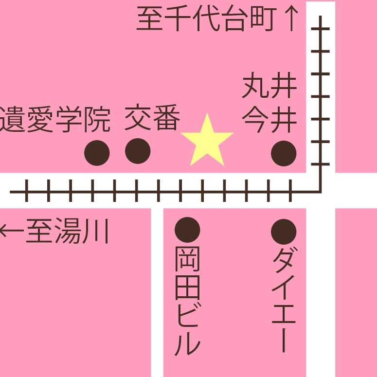 函館の大文字周辺地図