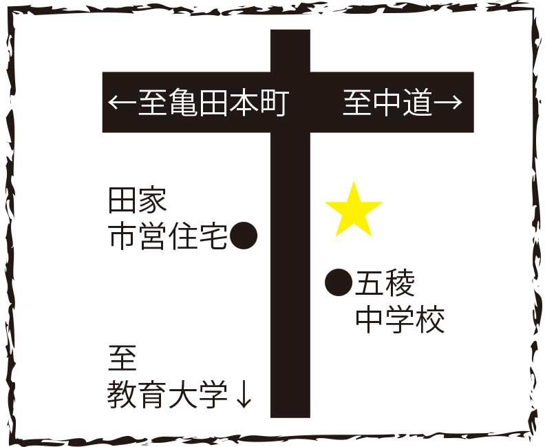ラーメン専科麺次郎周辺地図