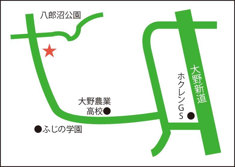 谷観光農場周辺地図