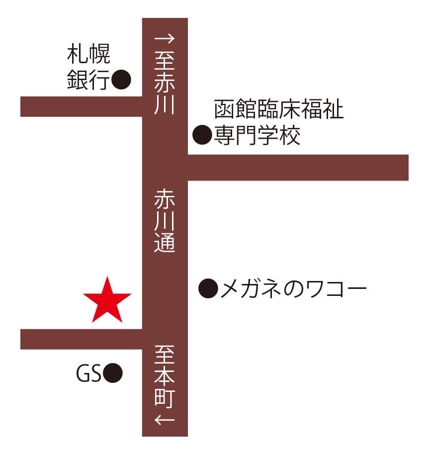 トラットリアピアッティ周辺地図