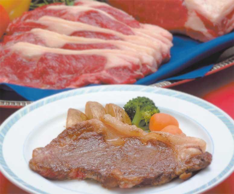 函館国際ホテル1階アゼリアの十勝牛ステーキ食べ放題プランのステーキ