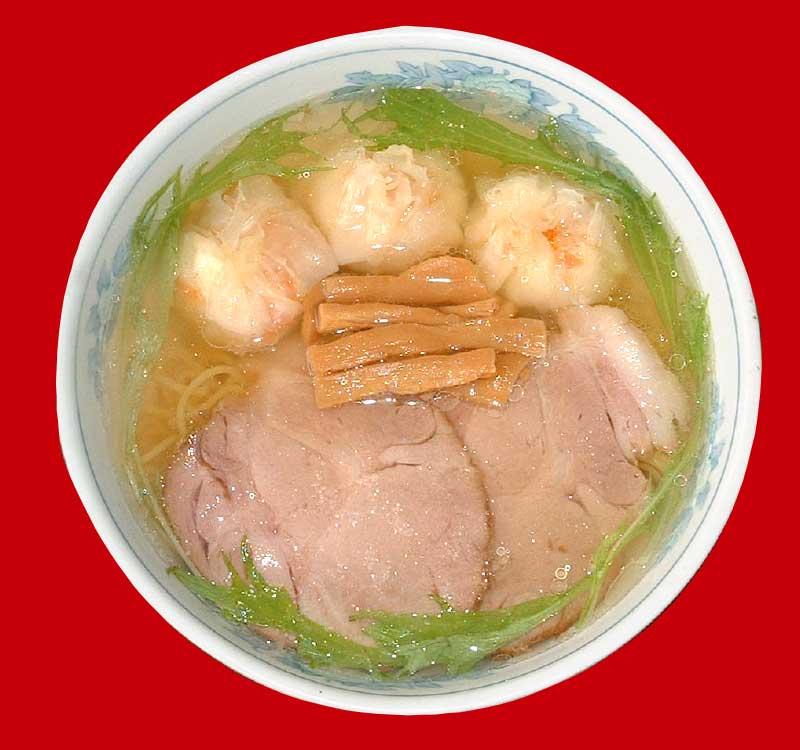 六花のカニ入りジャンボワンタン麺