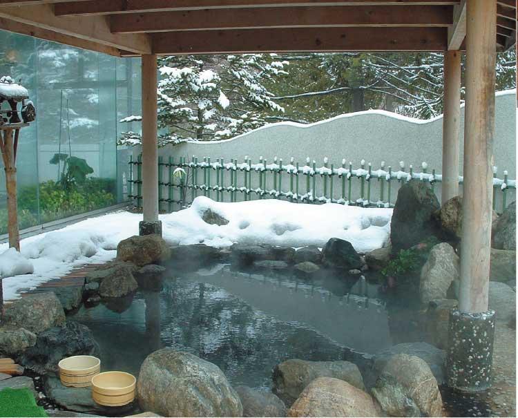 ホテル網走湖荘の露天風呂