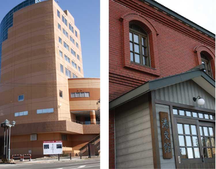 港文館と釧路市立美術館