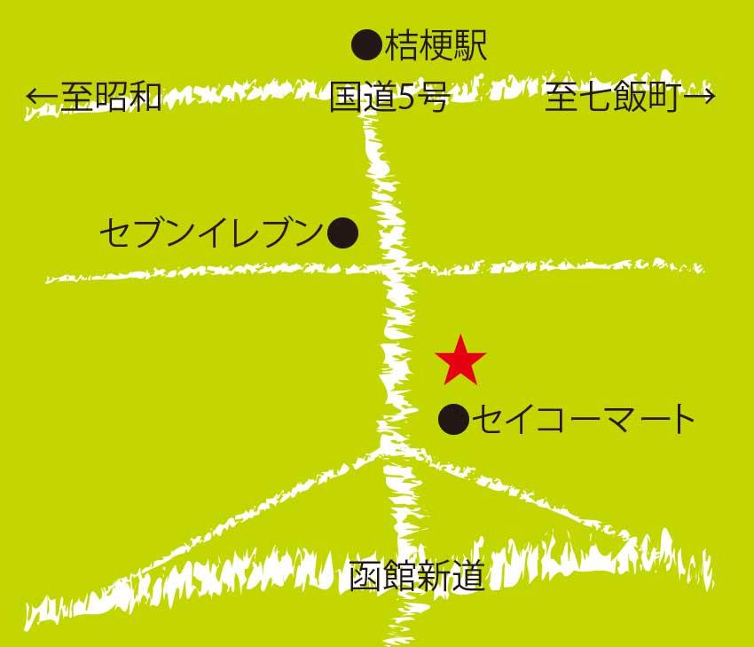ミルキーハウス周辺地図