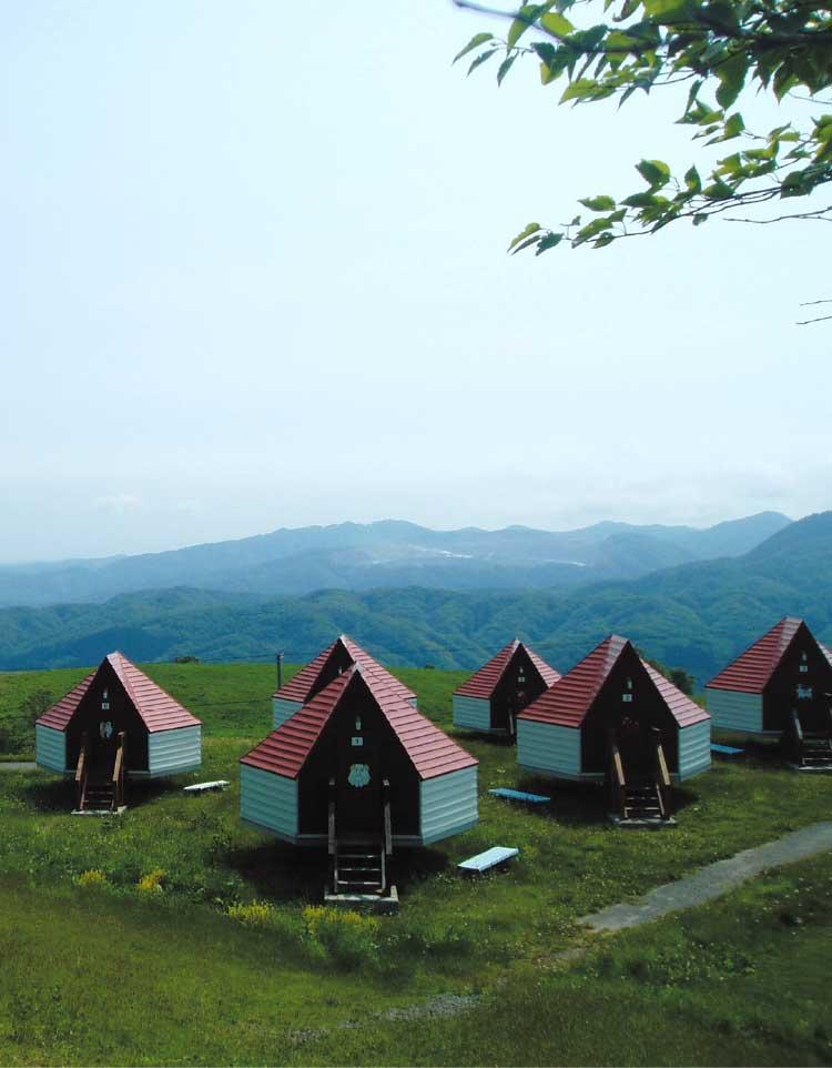 北斗市きじひき高原キャンプ場のバンガロー