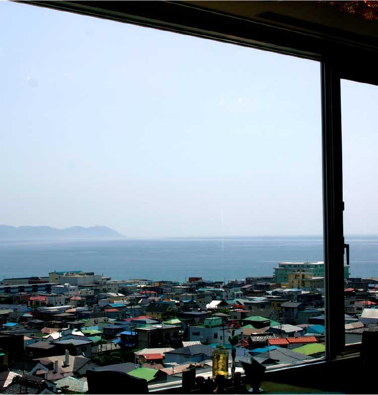 ホテル函館山内ハイピークから見える函館の町並み