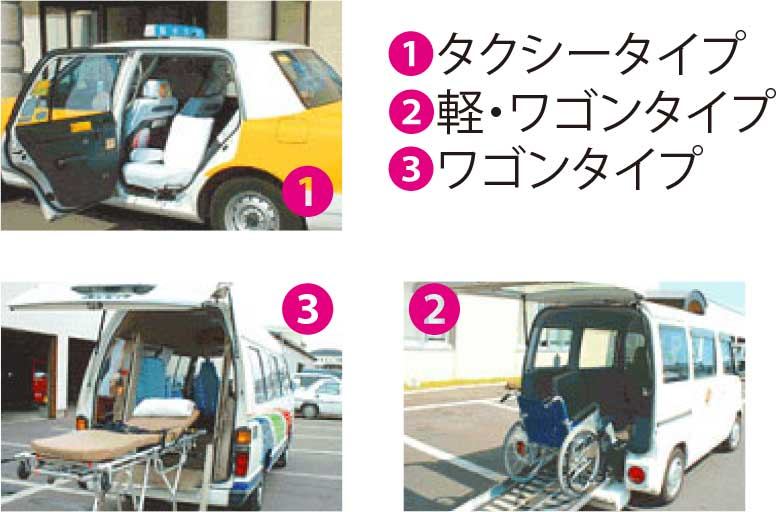函館タクシー介護タクシー車両一覧