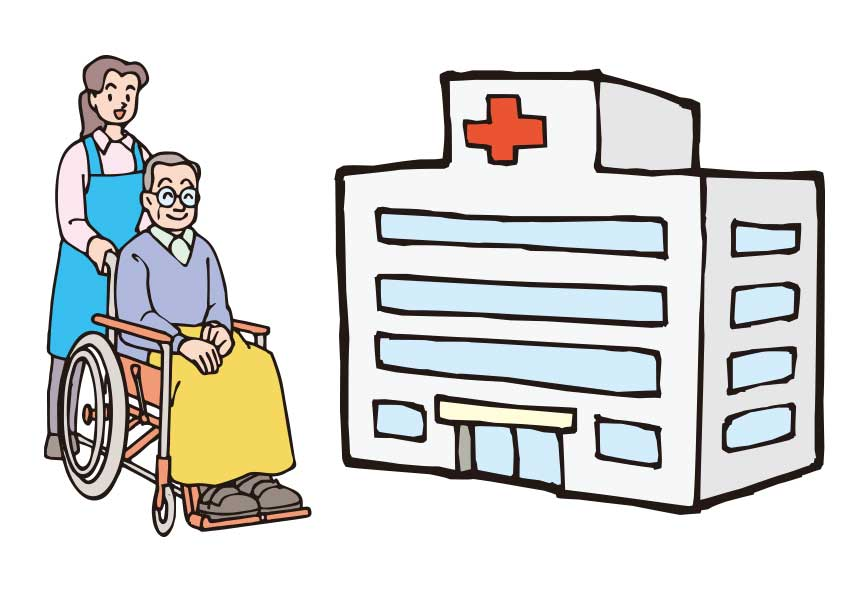 函館タクシー介護タクシーの病院への付き添いサービスイメージ