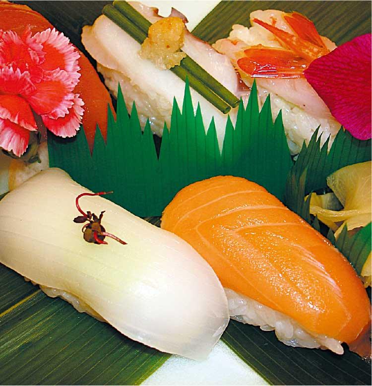 フィットネスホテル330函館内味紀行いちばんのバイキングメニューの握り寿司