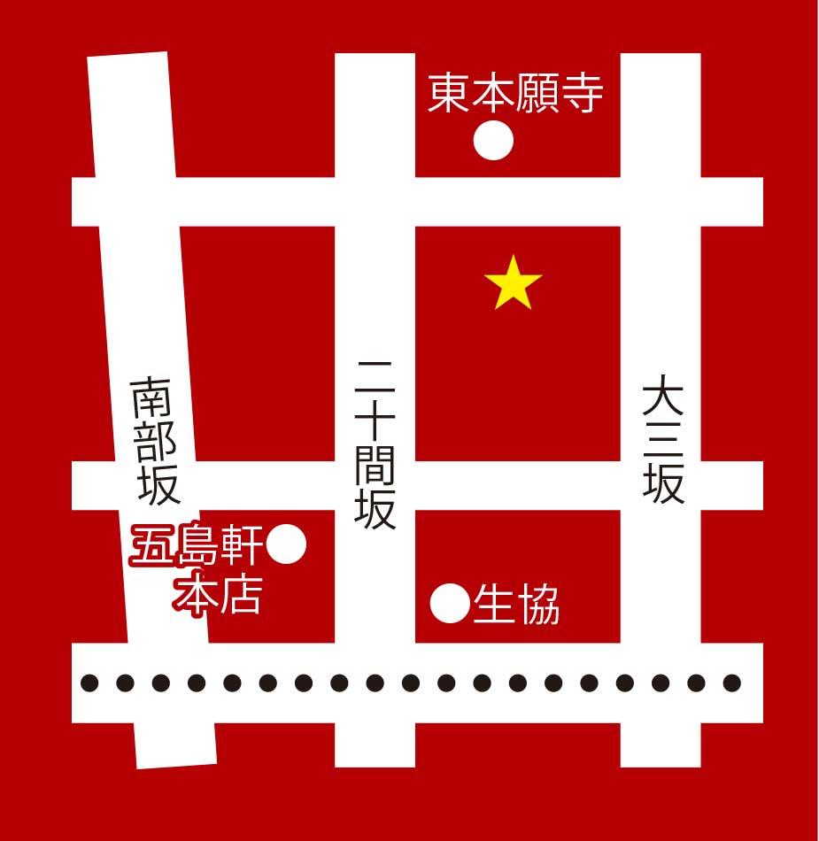 レイモン・ハウス元町店周辺地図