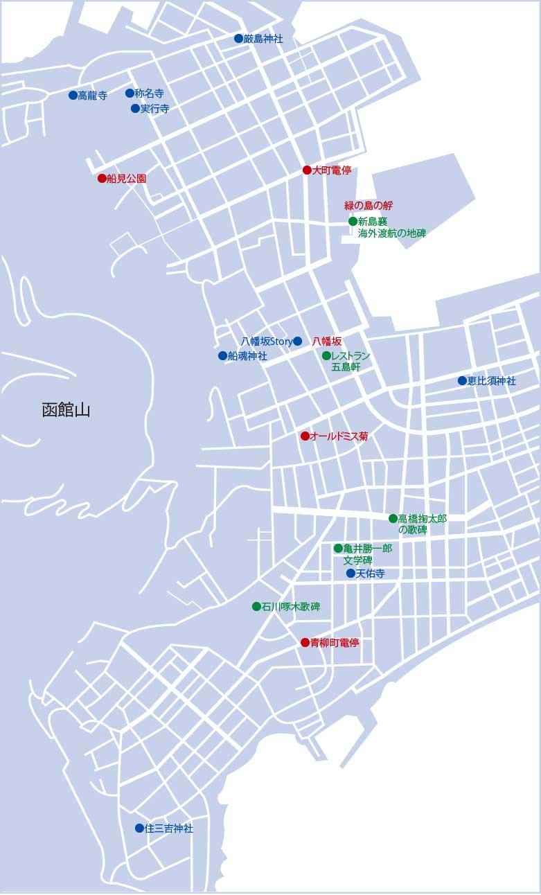 西部地区散策コースマップ