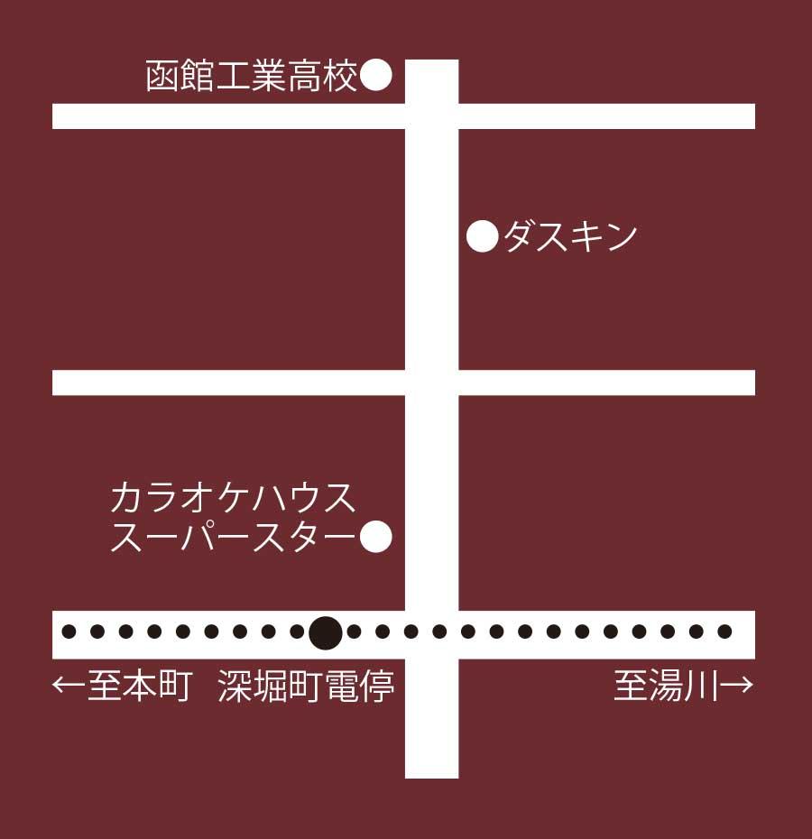 函館のミモザ周辺地図