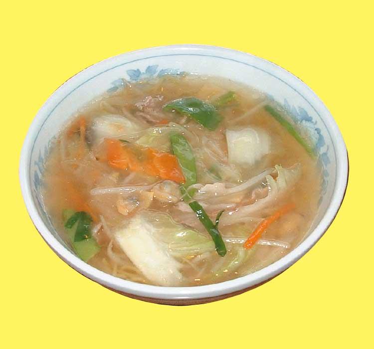 函館のラーメン屋六花の広東麺