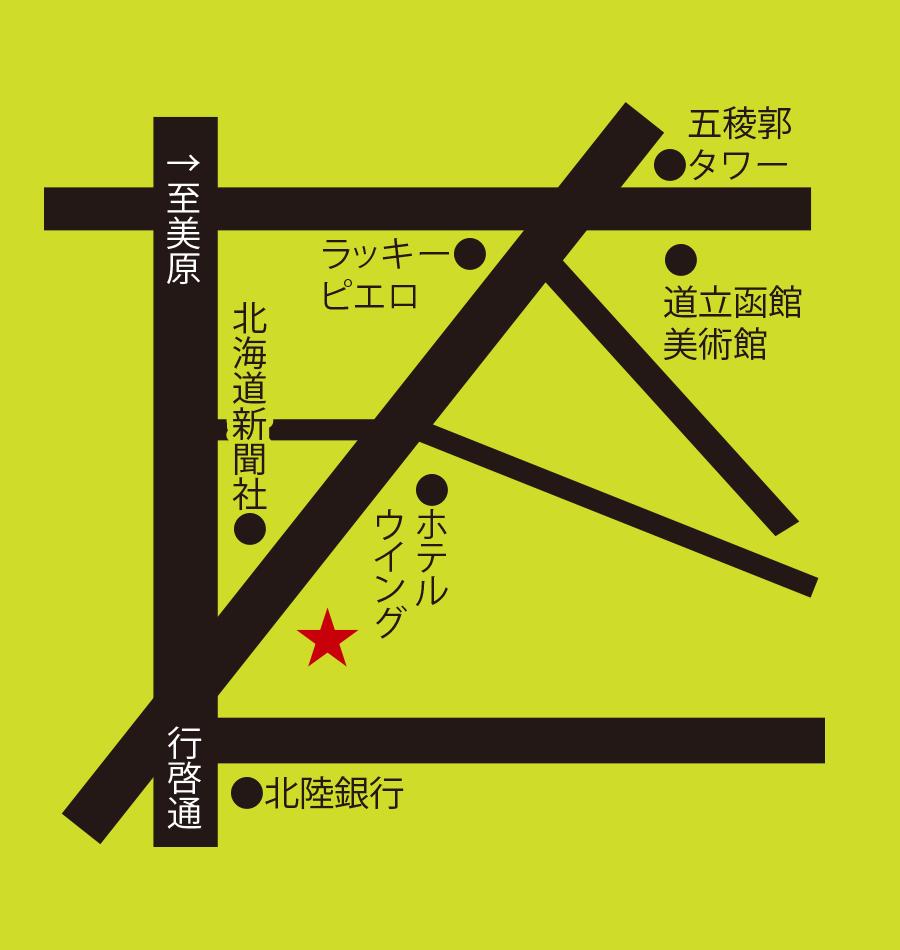 ちゃんぽん長崎屋周辺地図