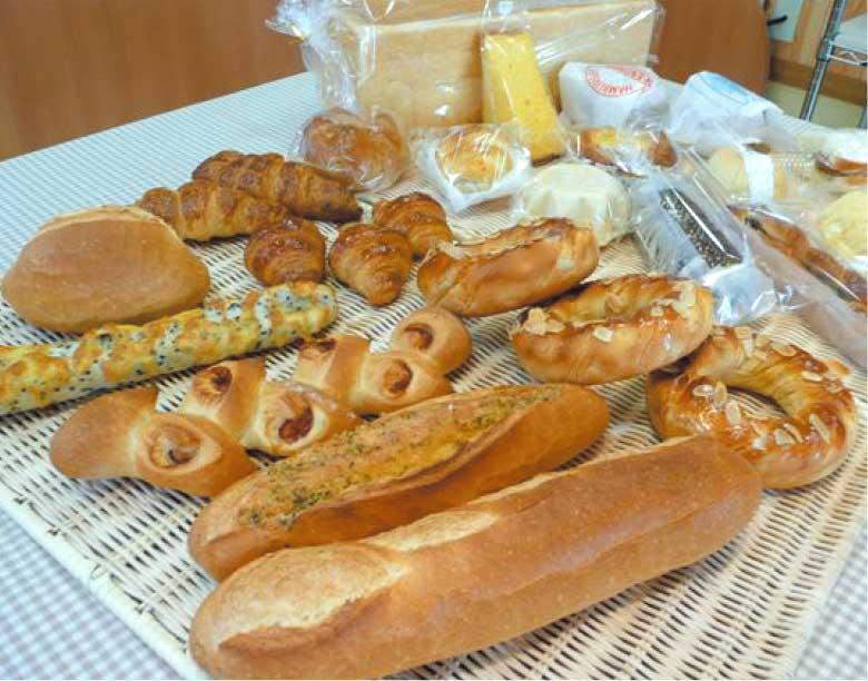 パンハウスシアンの焼き立てパン