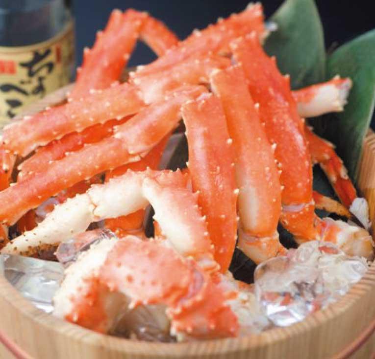 わいわい亭のバイキングで食べられる蟹