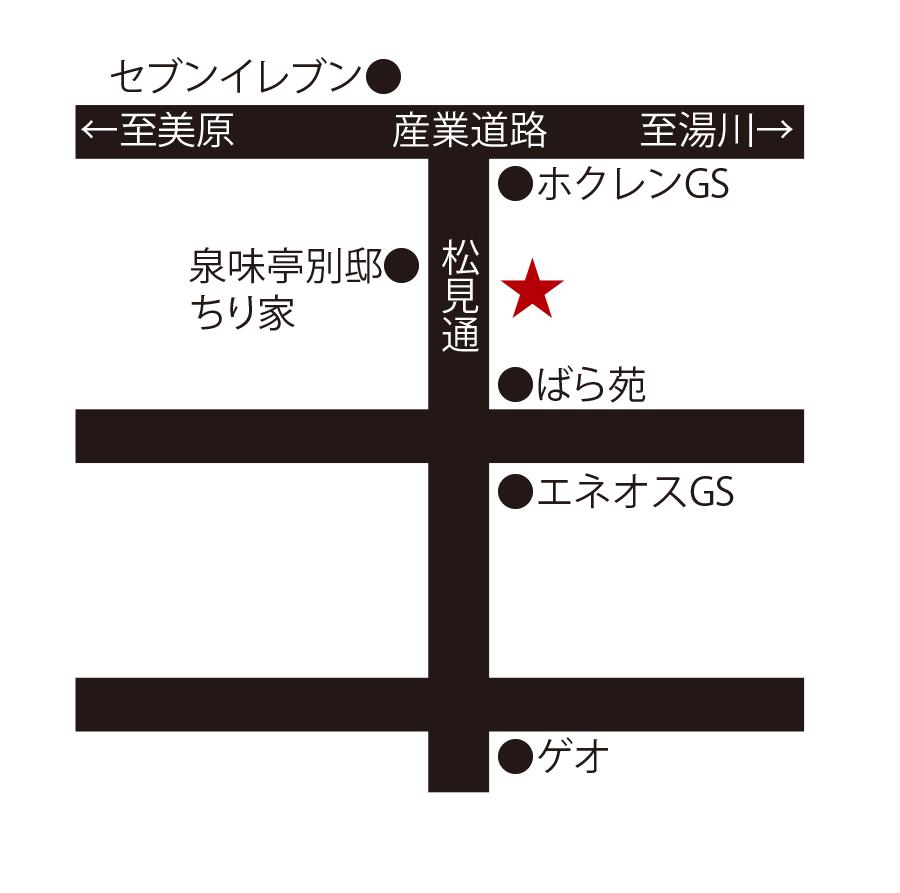 炭火焼肉泉味亭周辺地図