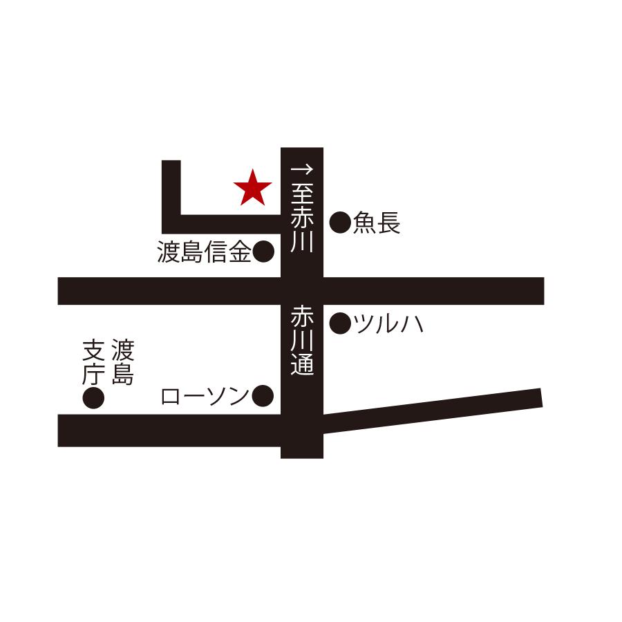 一徳周辺地図