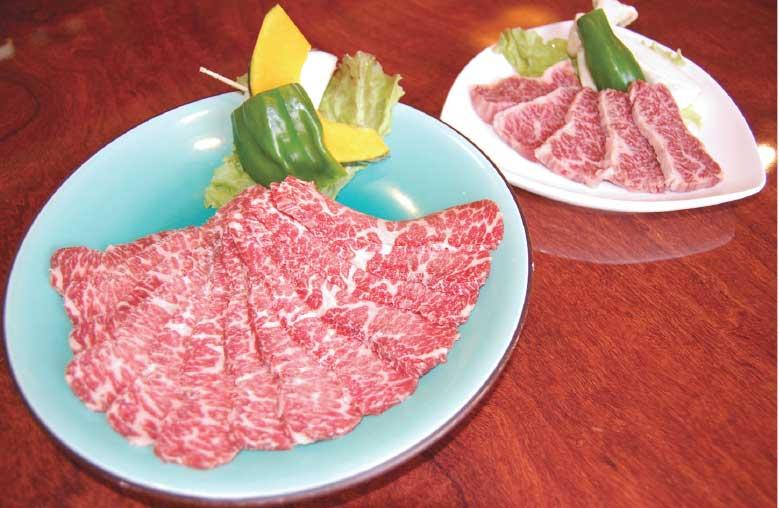 焼肉レストランテグの特選上カルビと特上ハラミ