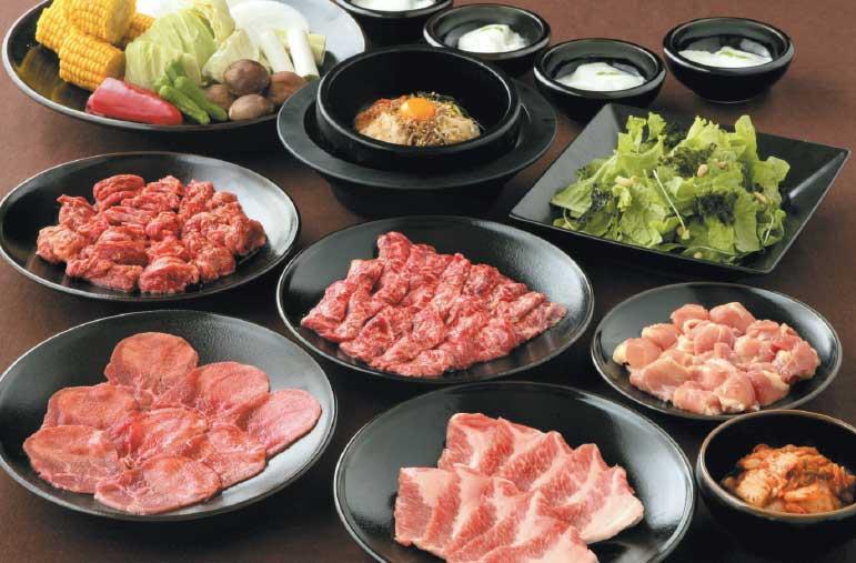 炭火焼肉屋さかい函館五稜郭店のファミリーセット料理