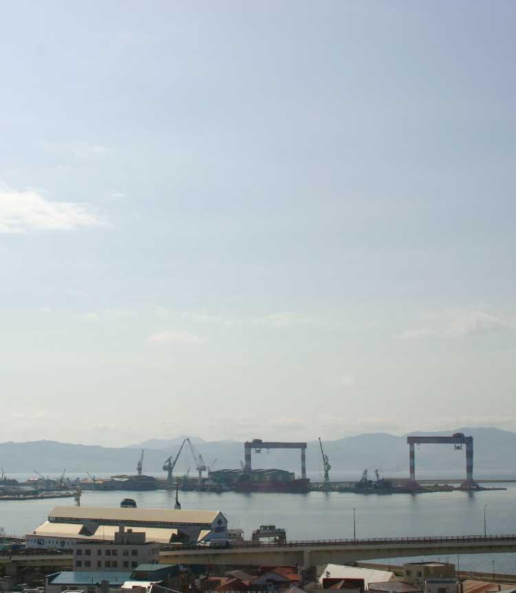 フィットネスホテル330函館いちばんから見える函館港