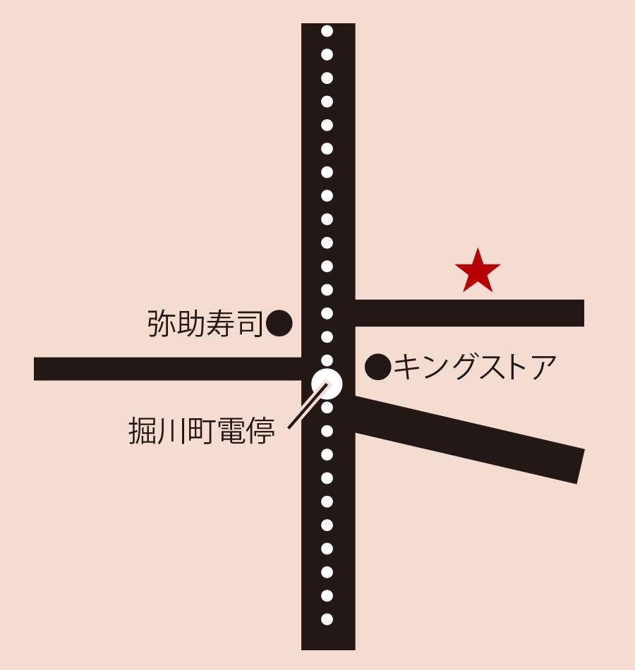 お好み焼赤坂周辺地図