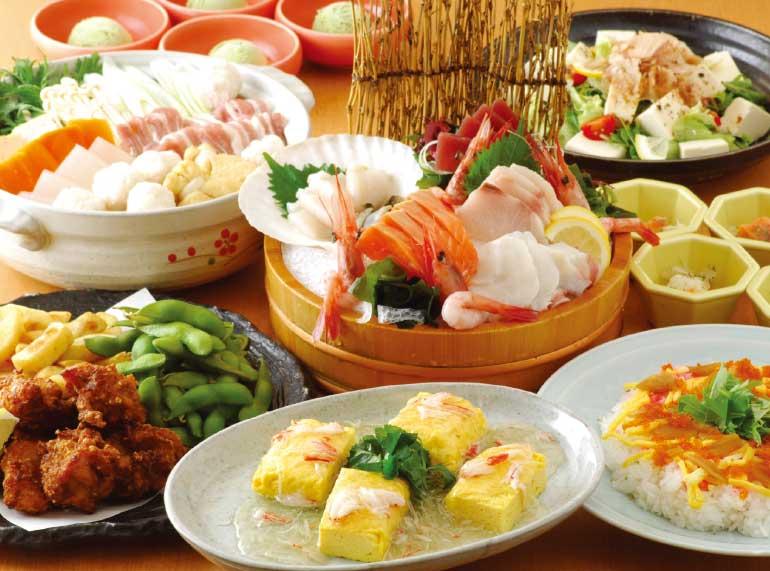旬のめぐみ屋の選べる鍋コース料理