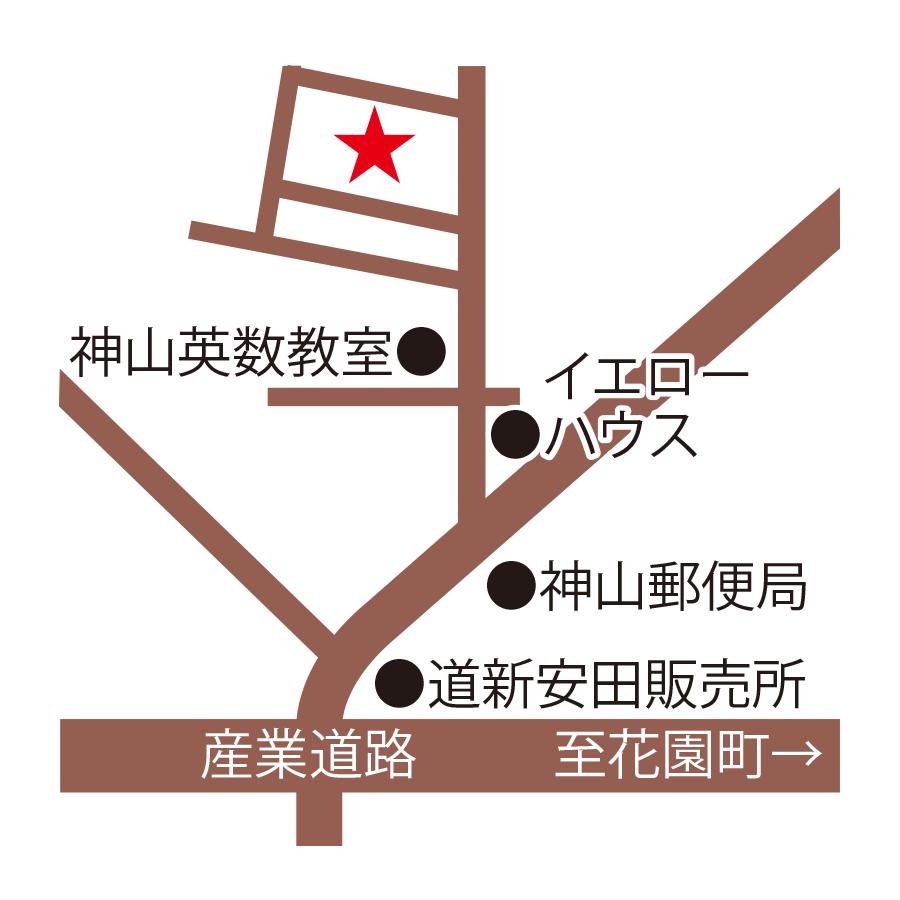 キッチン神山周辺地図
