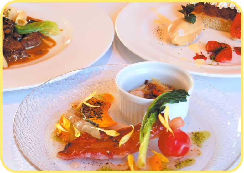 ブランヴェールのランチコース料理
