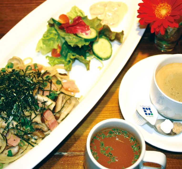 カフェ・ショコラの木の子の和風スパゲティー