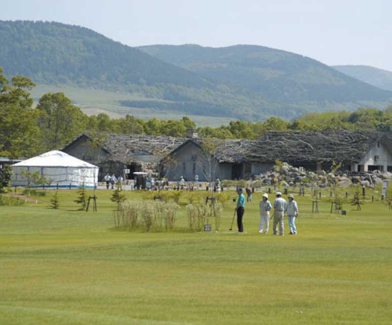 大沼流山温泉のパークゴルフ場