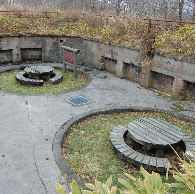 函館山にある御殿山第二砲台跡