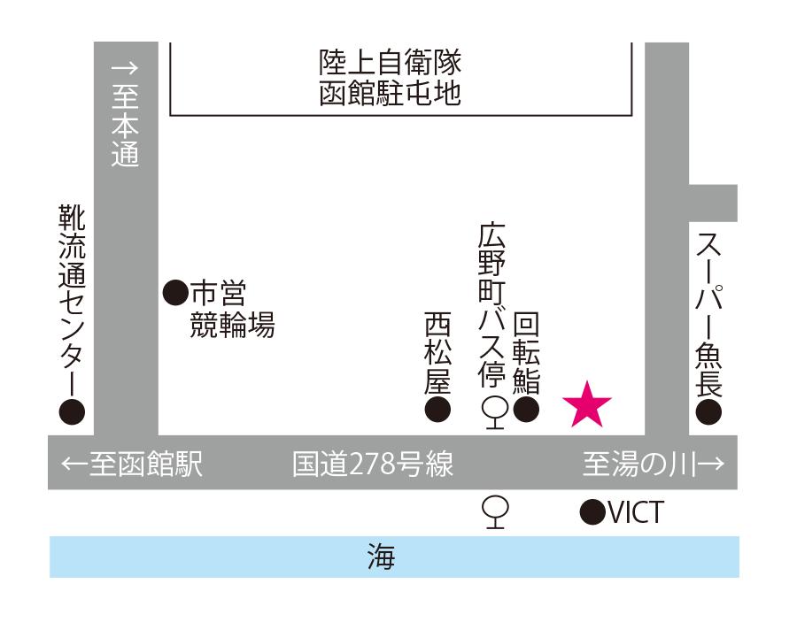 一心亭周辺地図