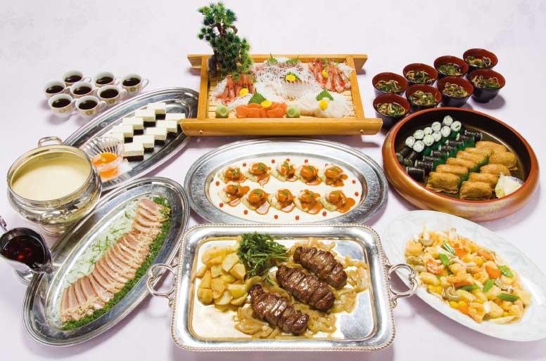五島軒本店の和洋中6000円プラン料理