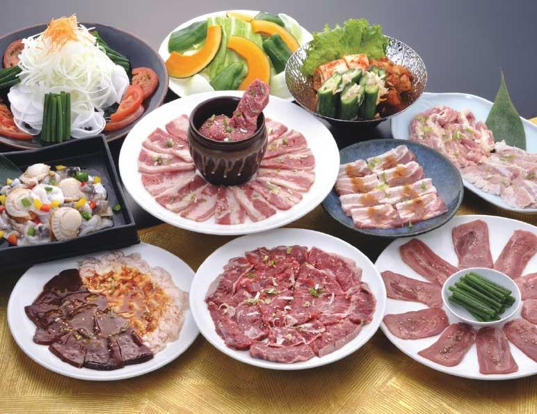 一心亭の満腹食べ飲み放題お肉と料理