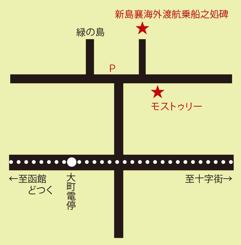 モストゥリー周辺地図