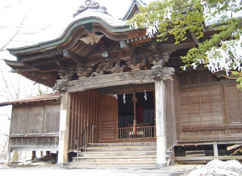 亀田八幡宮旧社殿羽目板